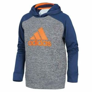 Adidas Boys' Athletic Pullover Hoodie( Navy/Orang